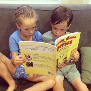 Lucy and Sam reading